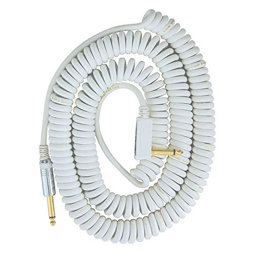 Vox Coiled Cable VCC – 90 (9 m) Guitar and Base Shield , whites