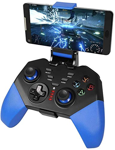 Controller for Android/IOS Wireless , Proslife Android mobile game controller with retractable bracket, Joystick Supports Android 6.0 Above System/iOS 11.3-13 System Game Controller