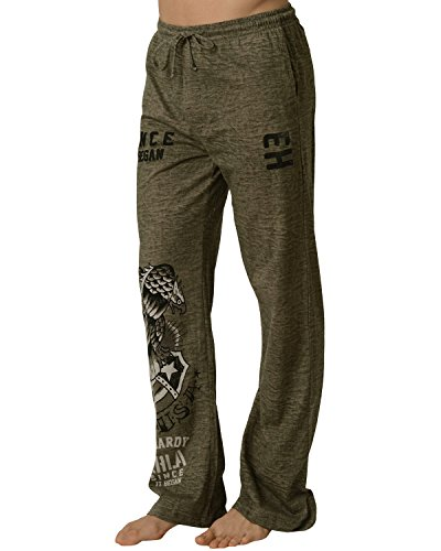 Ed Hardy Men's USA Eagle Lounge Pants - Green Dust - Large