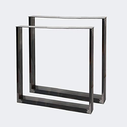 Bastidores para mesa 70x72 cm Acero lacado claro Caballetes para tablero Patas de mesa Bricolaje