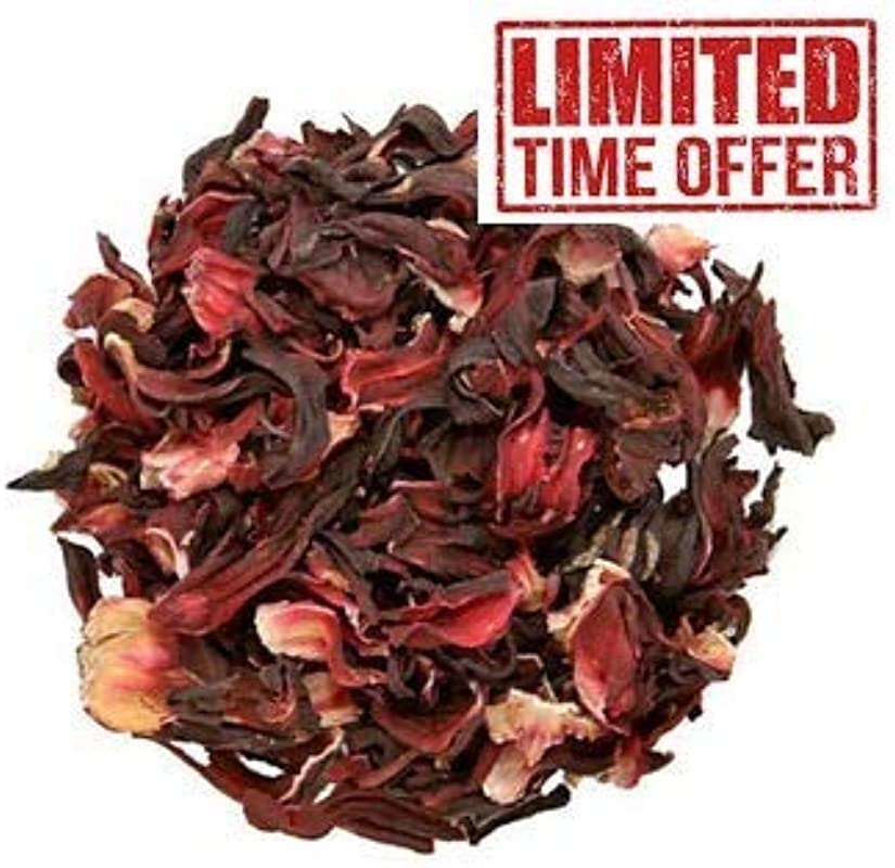 MAUI Hibiscus Flower One Pound 1Lb 100 Natural Dried Full Hibiscus Flower Machine Cut Sifted 1 Pound Bulk Bag 100 Raw For Perfect Hibiscus Tea Or A Cold Drink From East Africa Top Quality