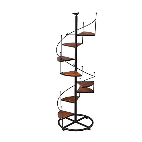 LOVELY Metall schwarz Blume Rack Display Garten Home Holz Tier Decor Patio Pflanze Ständer Halter (Size : 8 pots)