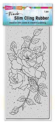 Stampendous Slim Rose Tendrils Rubber Stamp