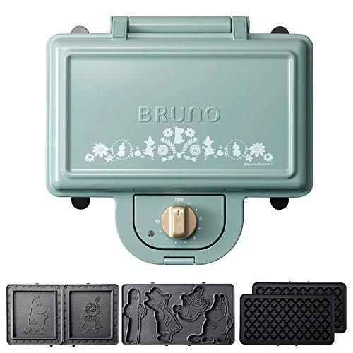 ブルーノ BRUNO ホットサンドメーカー ムーミン 耳まで焼ける 電気 ワッフル プレート セット ダブル ブルーグリーン BOE051-BGR 1700578