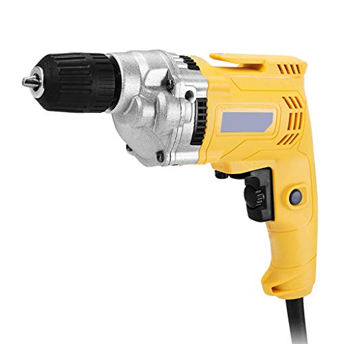 LYHXXX Electrodoméstico de Herramienta de Mano Taladro, Ajustable Velocidad eléctrica Pistola Taladro Destornillador 450w, Positivo y Negativo, Interruptor de Bloqueo