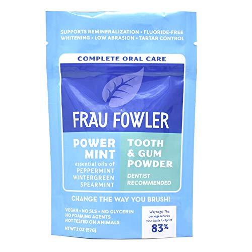 Frau Fowler Tooth Powder Teeth-Whitening Power Mint 2 oz(57g) ホワイトニング 海外直送品