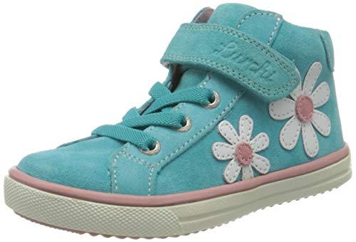 Lurchi Mädchen SIBBI Hohe Sneaker, Blau (Aqua 29), 35 EU