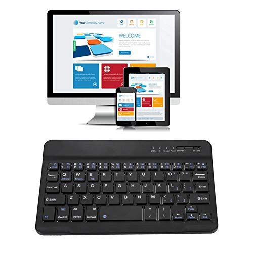 Teclado del Panel táctil de Bluetooth, Mini Teclado Delgado y Ligero de 7-8 Pulgadas, Teclado Bluetooth inalámbrico de aleación de Aluminio para Android/iOS/Windows, Teclado Bluetooth Recargable USB