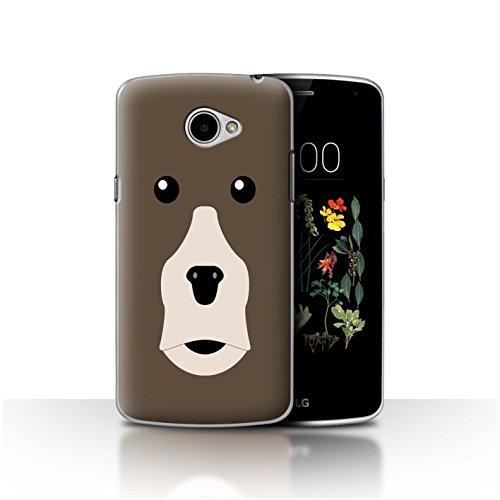 Stuff4®® - Funda para teléfono móvil con diseño de Dibujos Animados Braunbär LG K5/X220
