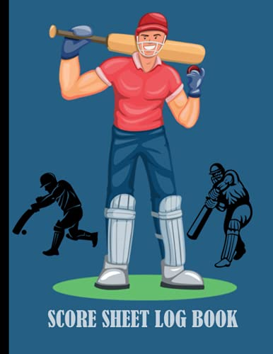 Cricket Score Sheet Log Book: Scorebook of 100 Score Sheet Pages for Cricket Games, 8.5 by 11 Inches