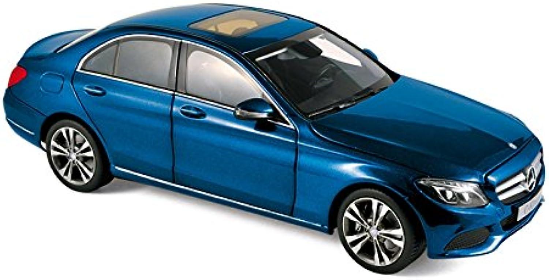 Norev nv183470Mastab 1  18 2014Mercedes Benz C Klasse blau metallic spritzgumodell Auto