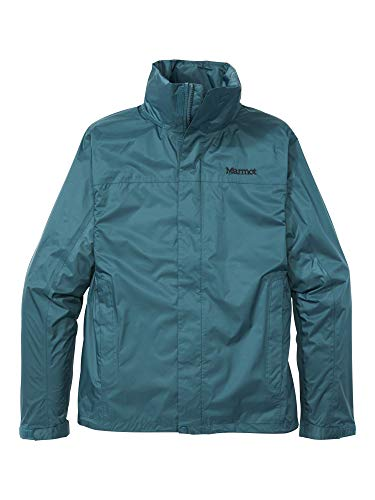 Marmot Men's PreCip Eco Jacket, Waterproof Jacket, Lightweight Hooded Rain Jacket, Windproof Raincoat, Breathable Windbreaker, Ideal for Running and Hiking, Stargazer, L