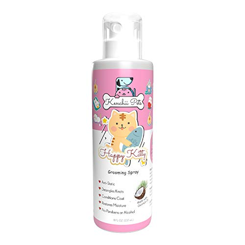 Professional Pet Grooming Spray For Kittens And Cats | All-Natural Scented Moisturizing Cat Detangler Spray | Kitten Conditioner Coat Shine Spray | Cat Grooming Supplies