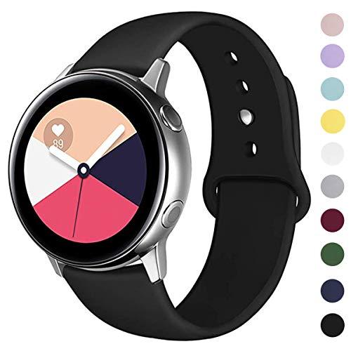 ANNYOO Armband für Samsung Galaxy Watch Active/Active2 40mm/44mm, 20mm Stegbreite Weiches Silikon Ersatzarmband Kompatibel mit Samsung Galaxy Watch 42mm/Gear S2 Classic/Gear Sport