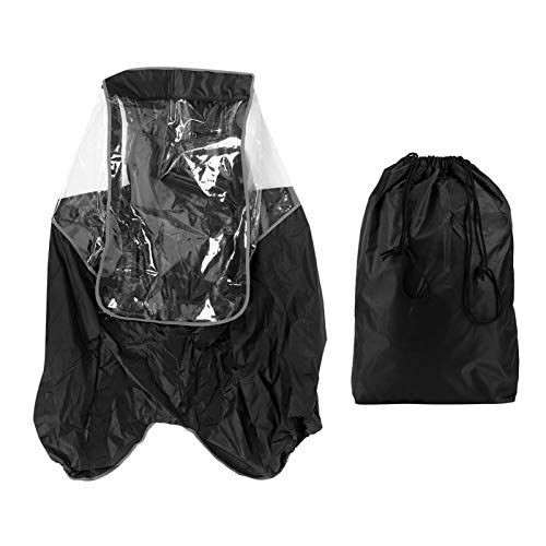 Deror Bicycle Rain Cover,Children Bicycle Raincoat Bicycle Rainproof Cover Rain Protection Bike Back Seats Rain Coat(黑色)
