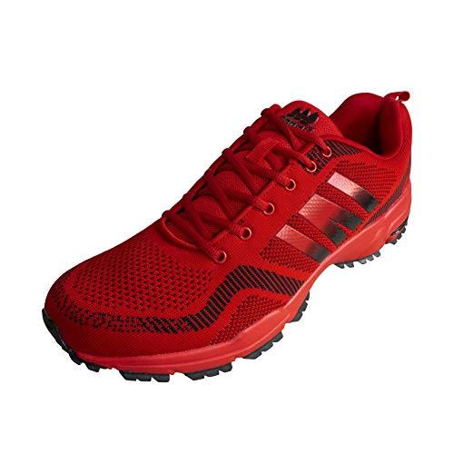 LEKANN 200 - Zapatillas deportivas para hombre (talla 47-50), color Rojo, talla 50 EU