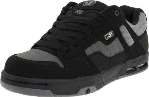 DVS Zapato de skate Enduro Heir para hombre, Negro / Gris, 8.5 US