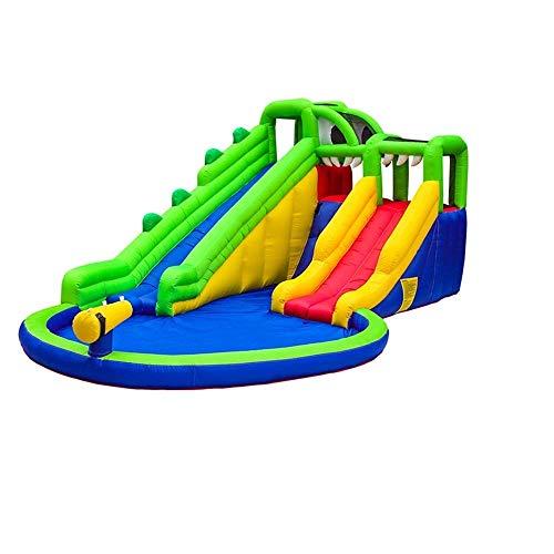 SGSG Castillo Hinchable Inflable Castillo Inflable Tobogán de Juguete para niños Equipo de Juego al Aire Libre Trampolín para niños Niños