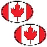 Biomar Labs 2 Stück Vinyl Kanada Kanadische Flagge Canada Aufkleber Autoaufkleber Stickers Auto Moto Motorrad Fahrrad Helm Fenster Tuning B 203