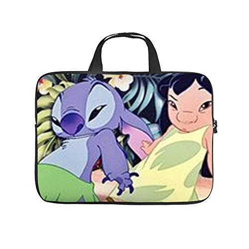 Lilo and Stitch Laptop Bag Protective Case Tote Notebook Computer Pocket Case Carrying Bag with Zipper 10-17 in