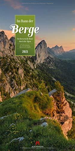 Im Bann der Berge Kalender 2021, Wandkalender im Hochformat (33x66 cm) - Naturkalender / Literaturkalender mit Zitaten
