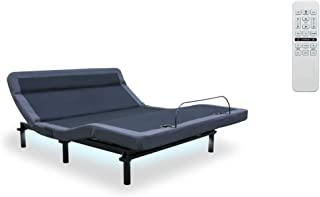 Leggett & Platt New Adjustable Bed! The Williamsburg Plus, 4 Motors, Independent Head Tilt, Dual Massage, Head & Foot Articulation, WallHugger, USB Port, UnderBed Lighting (King)