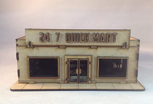 Quick Mart 28mm Building Kit Laser Cut Terrain The Walking Dead All Out War