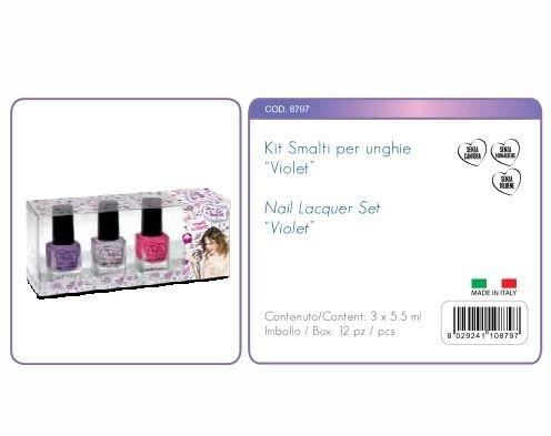 Kit Vernis à Ongles Violet 3 Violet