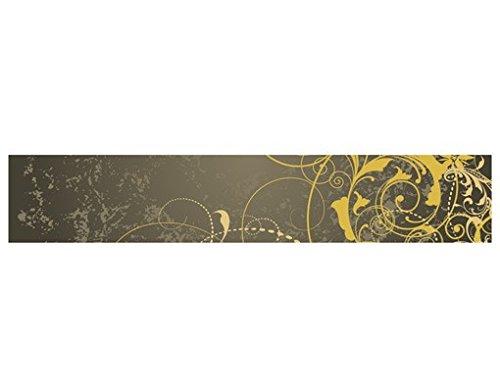 WandBild Bordüre Grunge Banner II Bordüre Schnörkel Verzierung Ranken Antik, Größe:15cm x 576cm