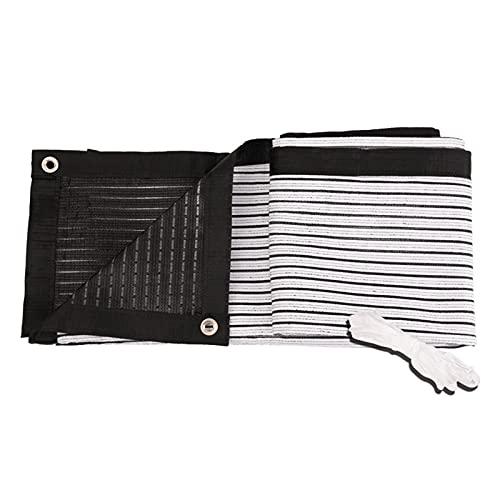 JWZQ Malla Sombreadora Rectangular de HDPE, 75% Tela de Sombra Anti-UV, Pantalla de Privacidad de Balcón de Doble Cara en Blanco y Negro, Impermeable Transpirable