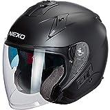 Nexo - Casco tipo jet para motocicleta, casco tipo jet Comfort, unisex, chopper/cruiser, para todo el año, termoplástico negro mate XS