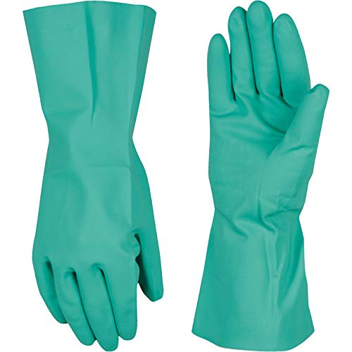 Chemical Resistant Nitrile Gloves,  Solvent and Pesticide Resistant, Reusable, Large (Wells Lamont 178L)