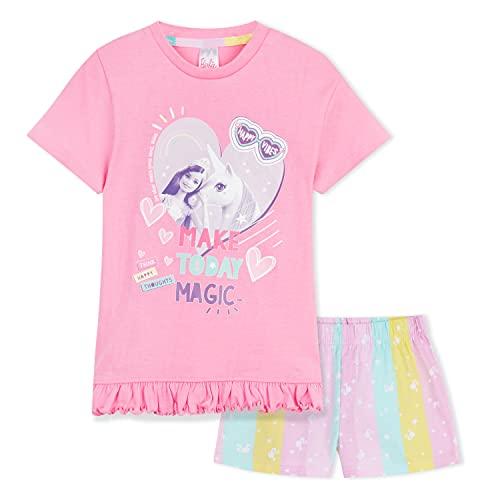 Barbie Ropa, Pijama Niña 100% Algodón, Pijama Unicornio Niña 2 - 14 Años, Cosas de Unicornios para Niñas (Rosa, 11-12 años)