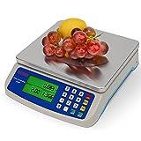 RUJIXU Báscula Digital Balanza de Cocina Profesional 10-40kg/1g Báscula de Cocina Plataforma de Acero Inoxidable Pantalla LCD, de con opción de Gramos y onzas para Hornear y cocinar (Size : 10kg/1g)