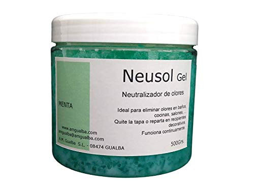 Neusol Gel Menta 550g. Neutralizador de olores en Hoteles, Viviendas. Decorativo