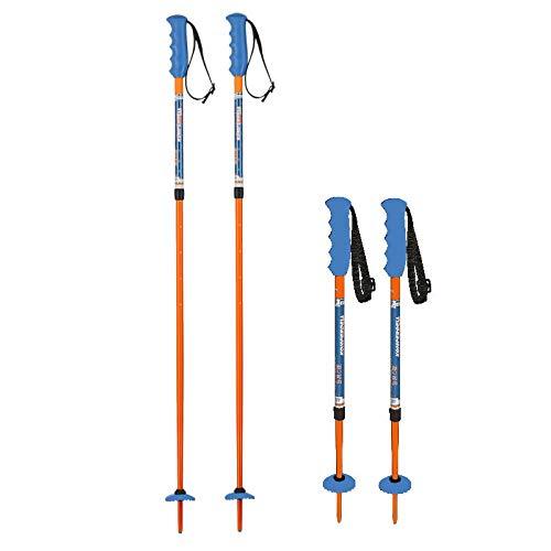 Komperdell Runningback Kinder Vario verstellbare Länge 80-105cm Skistöcke