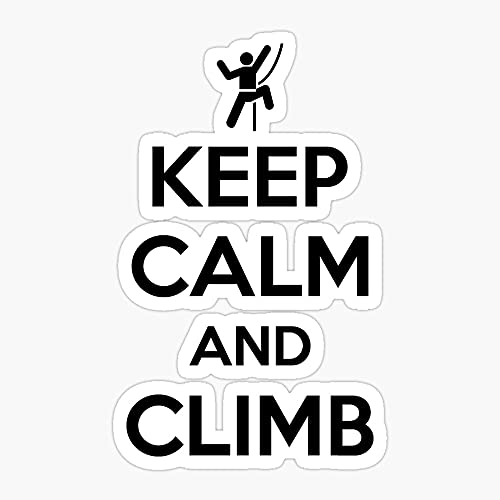 Keep Calm and Climb On Pcs Cute Vsco Vinyl Aesthetic Waterproof Stickers Laptop Hydroflask Skateboard Computer Stickers