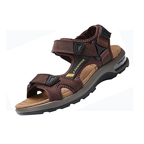 Sandalia Tipo Pescador para Hombre,Unisex Zapatillas de Playa Sandalias Piscina Zapatos de Jardín Respirable Casual Pantuflas,dark_brown_39