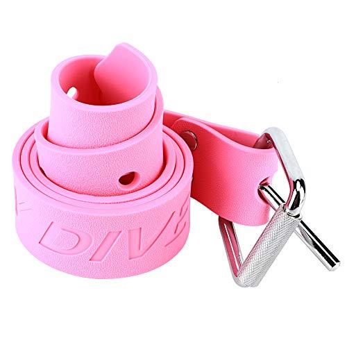 Dive Weight Belt, Durable Rubber Dive Weight Belt Scuba Diving Weight Belt With Quick Release Buckle Pink