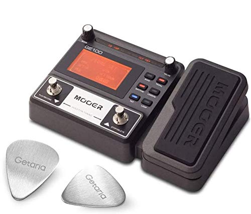 Mooer Guitar Effect Pedal ME GE 100 Multi Effect Processor Device with 2 Getaria Guitar Picks