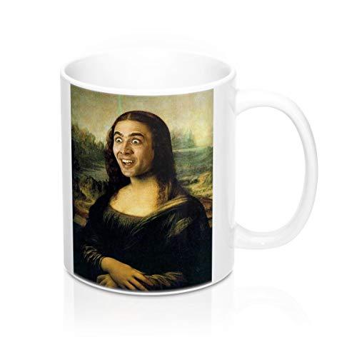 V Direct Mugs Nicolas Cage als Mona Lisa Funny Becher, Kaffeebecher, Tee Tasse, Tee Tasse