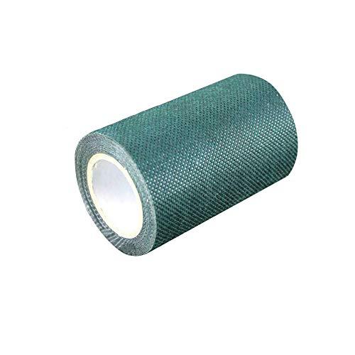 BE-TOOL - 1 bande de gazon artificiel auto-adhésive synthétique pour fixation de tapis de pelouse verte, vert