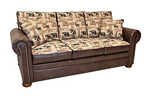 Beam & Oak Redwood Queen Sleeper Sofa Memory Flex Brown