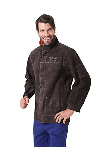 Mufly Schweißer Jacke aus Rindleder Welding Jacket Schweißerjacke Arbeitsjacke Schweißerschutzjacke
