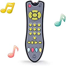 TuiVeSafu Kids Musical TV Remote Control Toy with Light and Sound, Early Education Learning Remote Toy for 6 Months+ Toddlers Boys or Girls