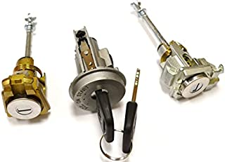 PT Auto Warehouse LS-24 - Ignition Door Lock Cylinders with Keys Set - Without Immobilizer