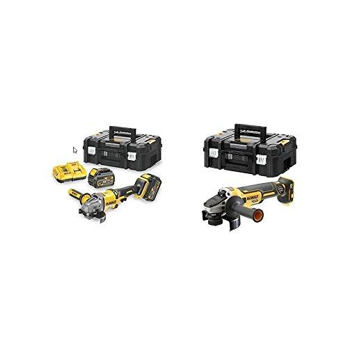 DEWALT CPROF594 - KIT XR FLEXVOLT = DCG414T2 Amoladora 125mm 54V 2 bat 54V/18V Li-Ion 6Ah+DCG405NT Mini-Amoladora sin escobillas XR 18V 125mm sin carg/bat con Freno,Embrague,Arranque Suave,TSTAK II