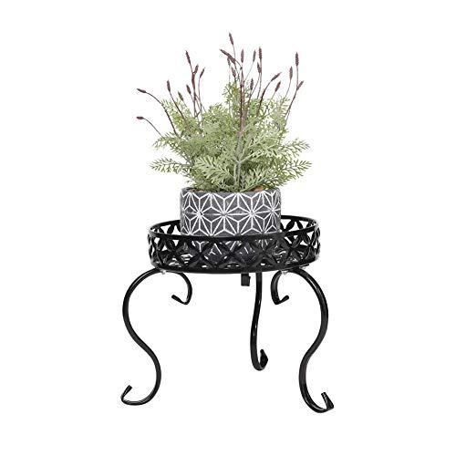 TYX-SS Pflanzenregale Gartenregal,Metall Paletten Blumenregal Für Innen Wohzimmer Indoor Outdoor Garten Deko 30.5 * 30.5 * 22.5CM,Schwarz