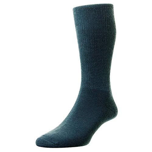 HJ Hall Herren 1 Paar Wolle Diabetiker Socken 11.06 Mens Airforce