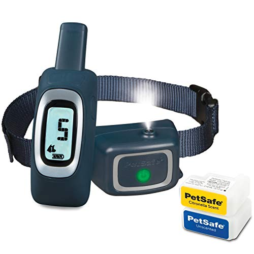 PetSafe Remote Spray Trainer, Tone, Vibration, Spray Stimulation, All-In-One Training Solution, Citronella and Unscented Spray, Rechargeable